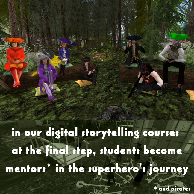Digital Storytelling Students become mentors after the hero's journey
